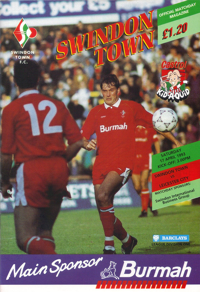 Saturday, April 17, 1993 - vs. Leicester City (Home)