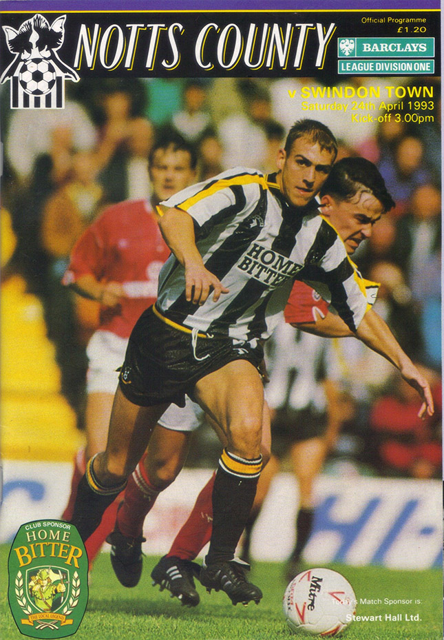 Saturday, April 24, 1993 - vs. Notts County (Away)