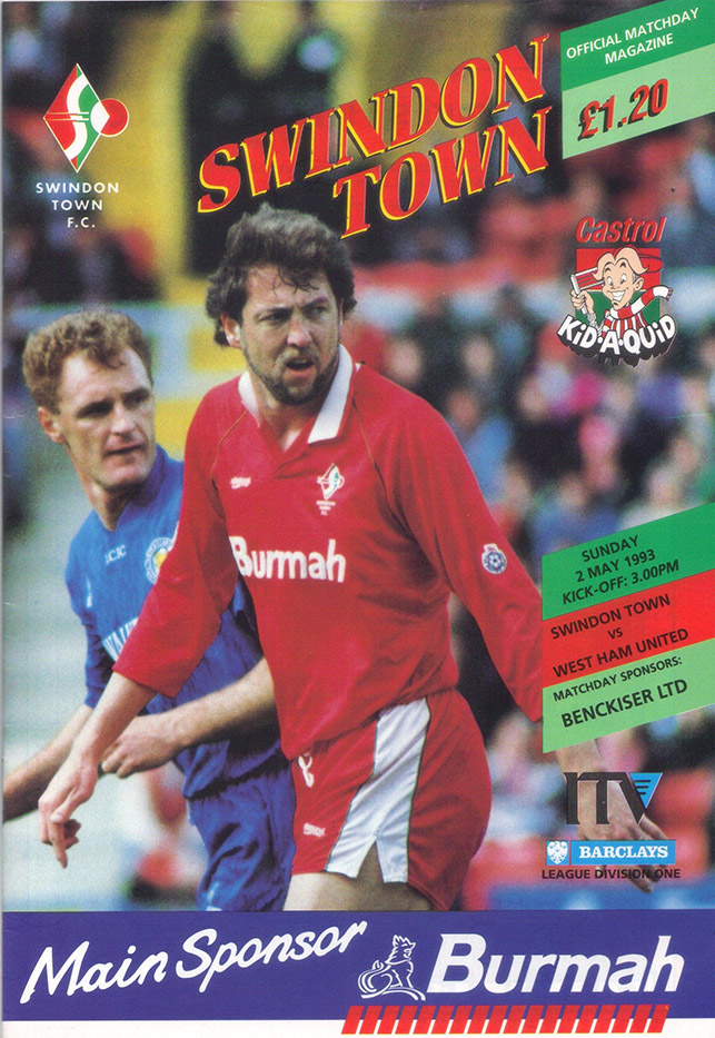 Sunday, May 2, 1993 - vs. West Ham United (Home)