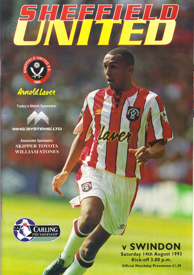 Saturday, August 14, 1993 - vs. Sheffield United (Away)