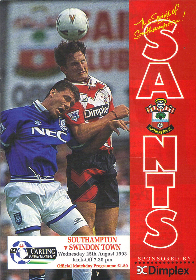 Wednesday, August 25, 1993 - vs. Southampton (Away)