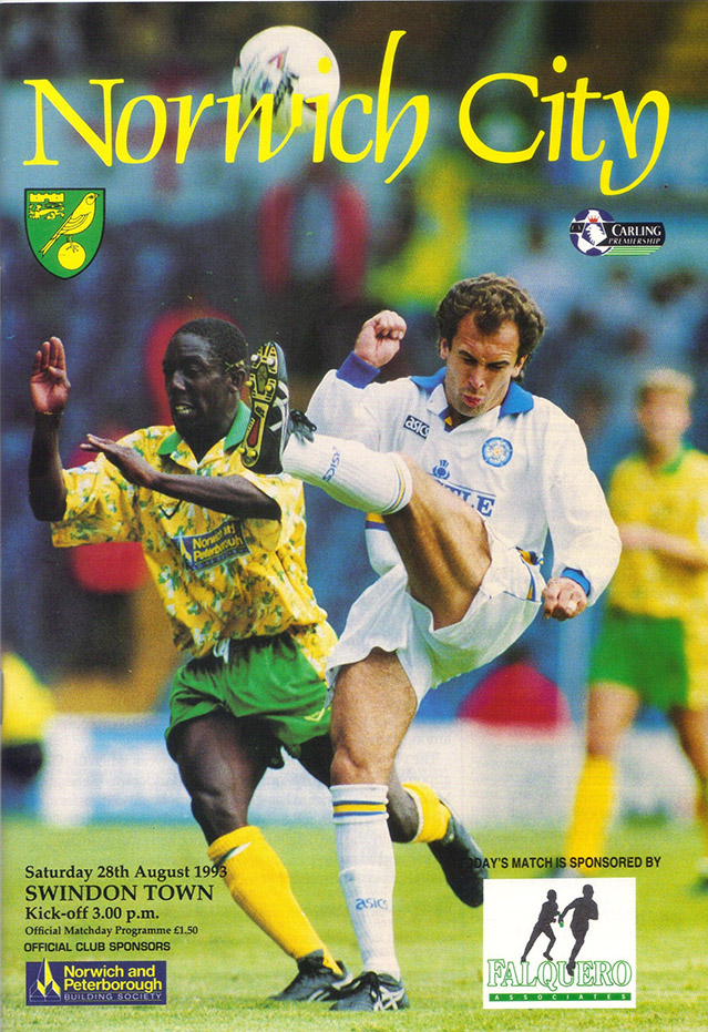 Saturday, August 28, 1993 - vs. Norwich City (Away)