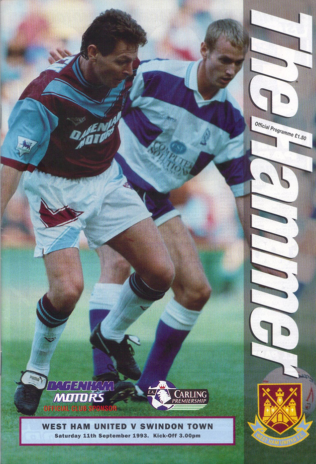 Saturday, September 11, 1993 - vs. West Ham United (Away)