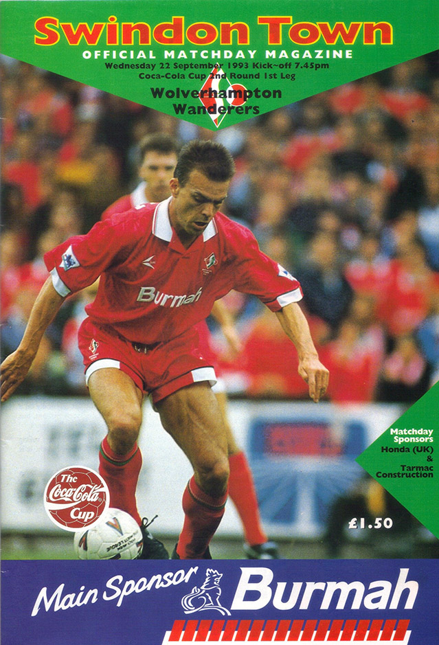 Wednesday, September 22, 1993 - vs. Wolverhampton Wanderers (Home)