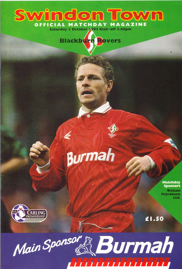Saturday, October 2, 1993 - vs. Blackburn Rovers (Home)