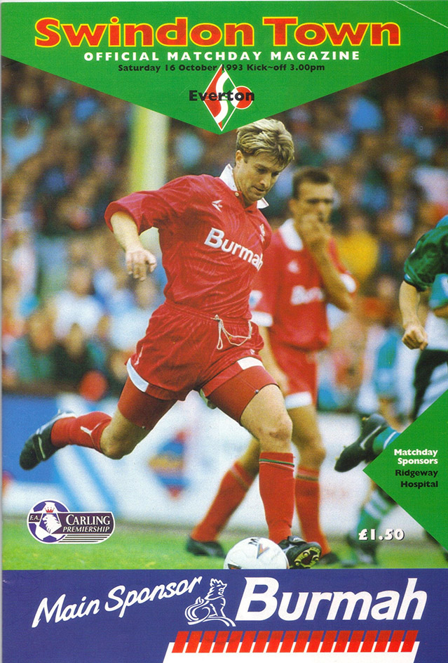 Saturday, October 16, 1993 - vs. Everton (Home)