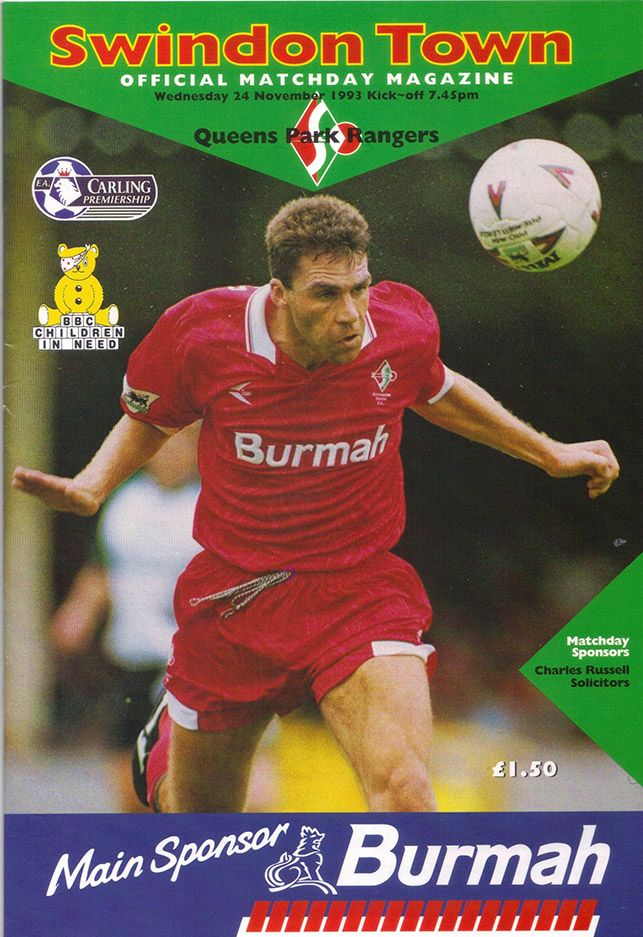 Wednesday, November 24, 1993 - vs. Queens Park Rangers (Home)