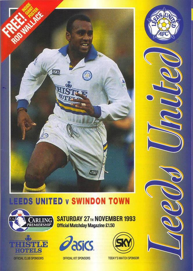 Saturday, November 27, 1993 - vs. Leeds United (Away)
