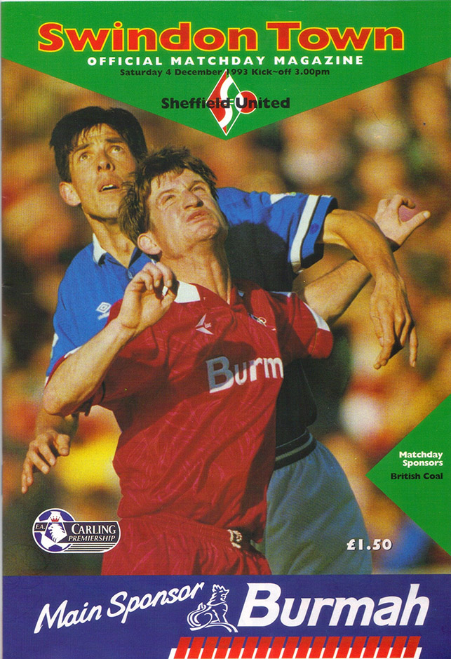 Saturday, December 4, 1993 - vs. Sheffield United (Home)