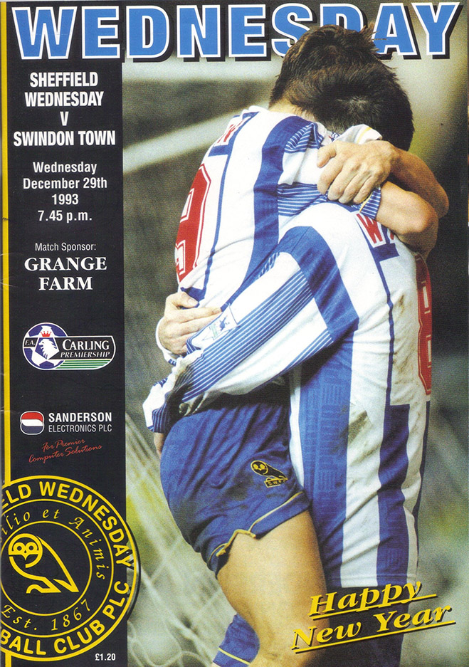 Wednesday, December 29, 1993 - vs. Sheffield Wednesday (Away)