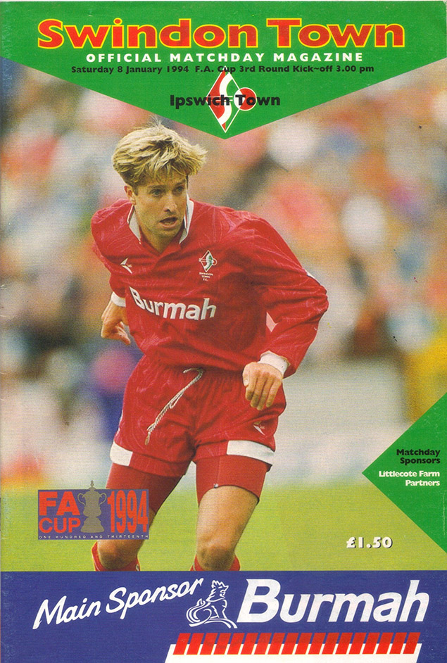 Saturday, January 8, 1994 - vs. Ipswich Town (Home)
