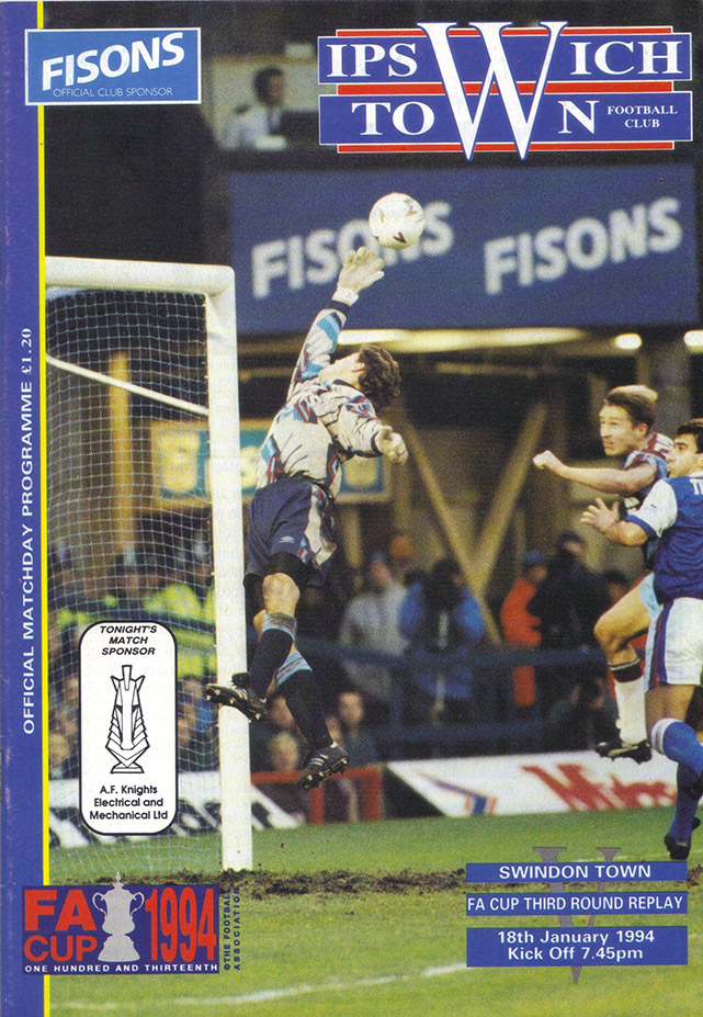 Tuesday, January 18, 1994 - vs. Ipswich Town (Away)