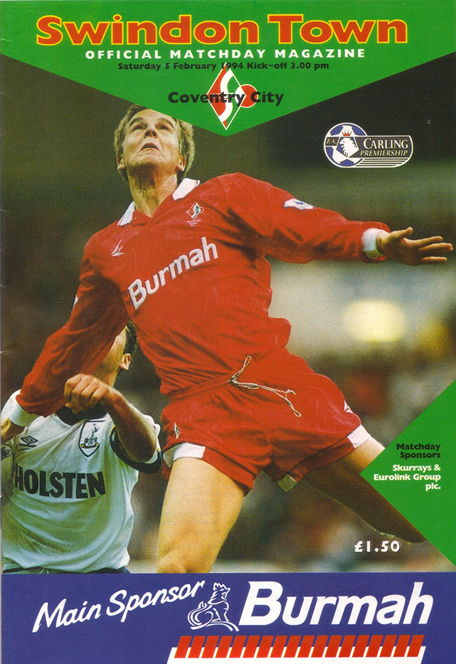 Saturday, February 5, 1994 - vs. Coventry City (Home)