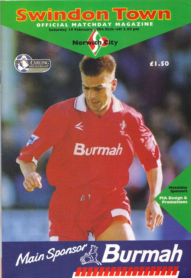 Saturday, February 19, 1994 - vs. Norwich City (Home)