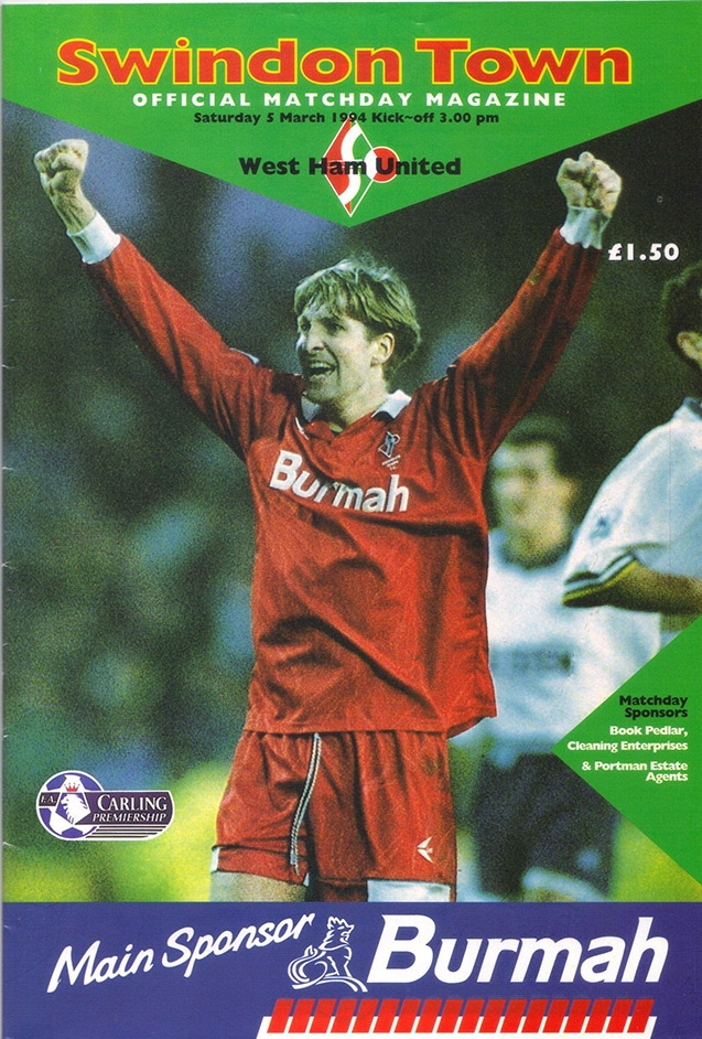 Saturday, March 5, 1994 - vs. West Ham United (Home)