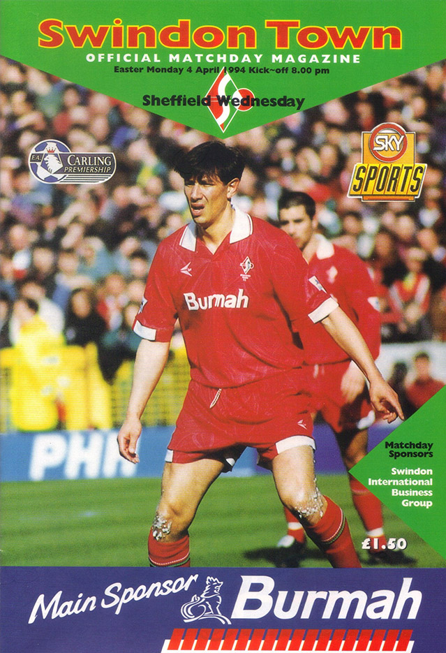Monday, April 4, 1994 - vs. Sheffield Wednesday (Home)