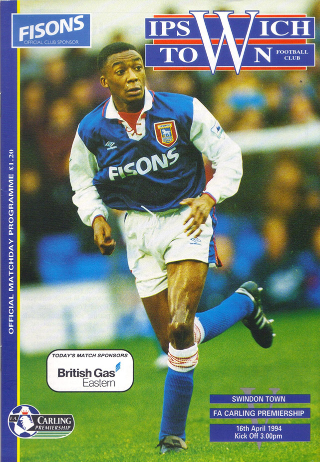 Saturday, April 16, 1994 - vs. Ipswich Town (Away)