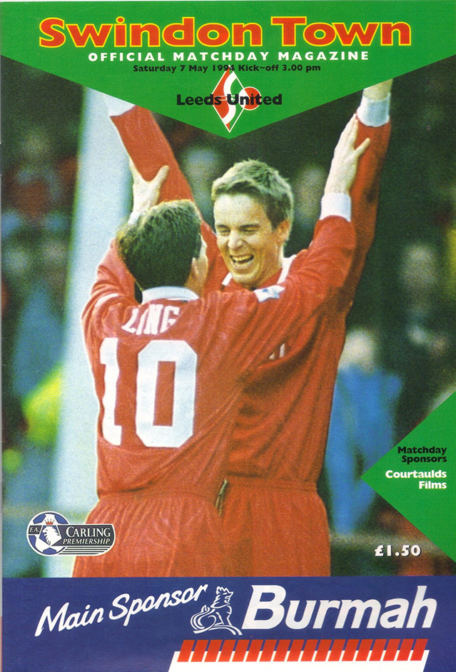 Saturday, May 7, 1994 - vs. Leeds United (Home)