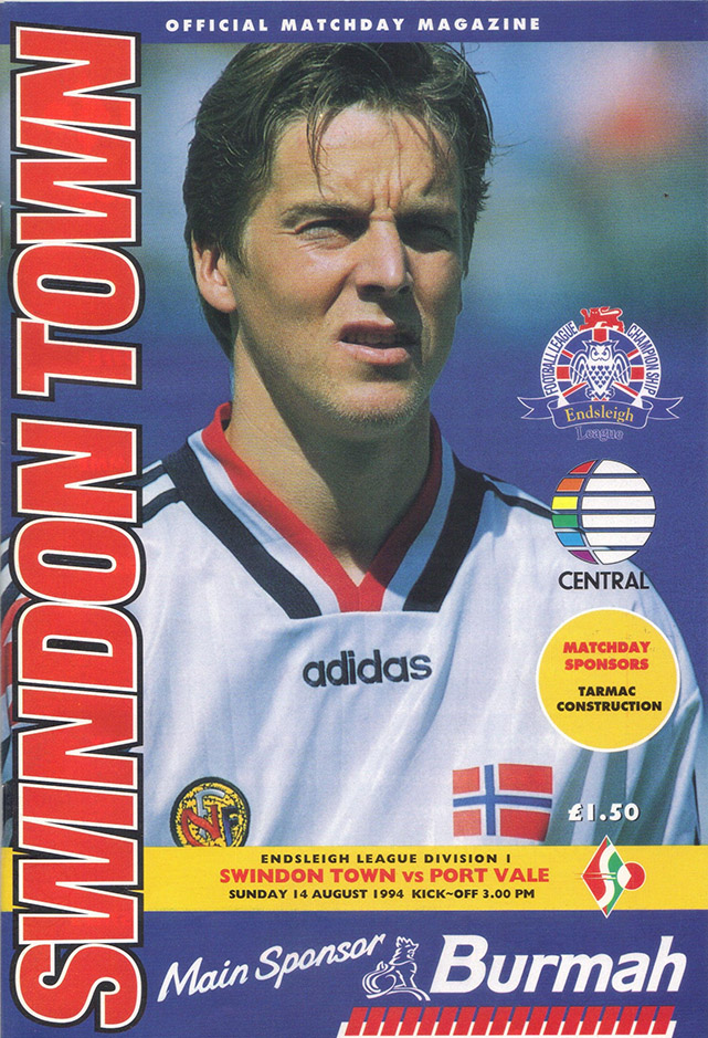 <b>Sunday, August 14, 1994</b><br />vs. Port Vale (Home)