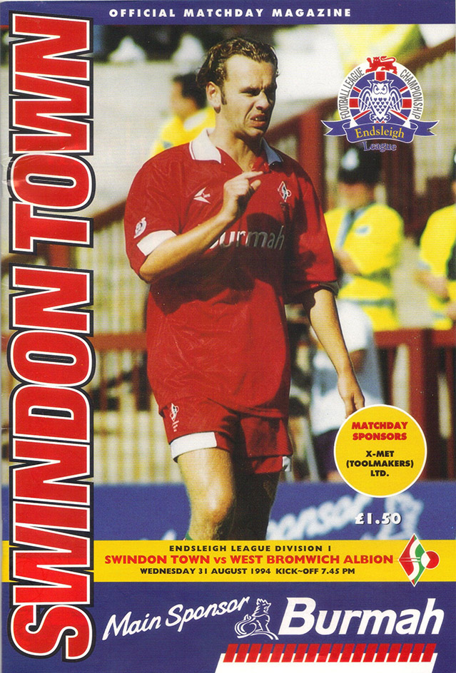 <b>Wednesday, August 31, 1994</b><br />vs. West Bromwich Albion (Home)