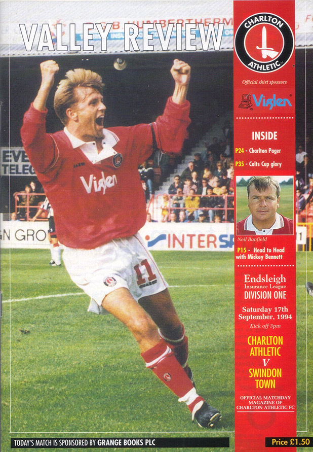 <b>Saturday, September 17, 1994</b><br />vs. Charlton Athletic (Away)
