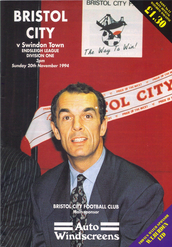 <b>Sunday, November 20, 1994</b><br />vs. Bristol City (Away)