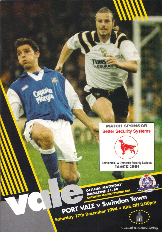 <b>Saturday, December 17, 1994</b><br />vs. Port Vale (Away)