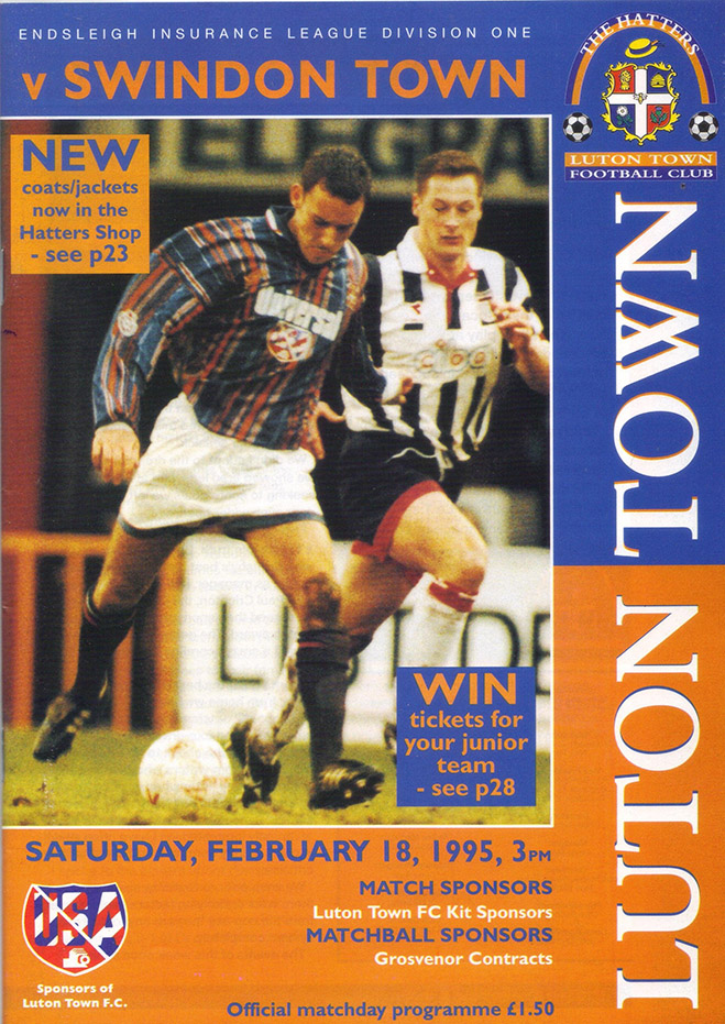 <b>Saturday, February 18, 1995</b><br />vs. Luton Town (Away)