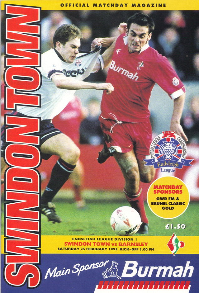 <b>Saturday, February 25, 1995</b><br />vs. Barnsley (Home)