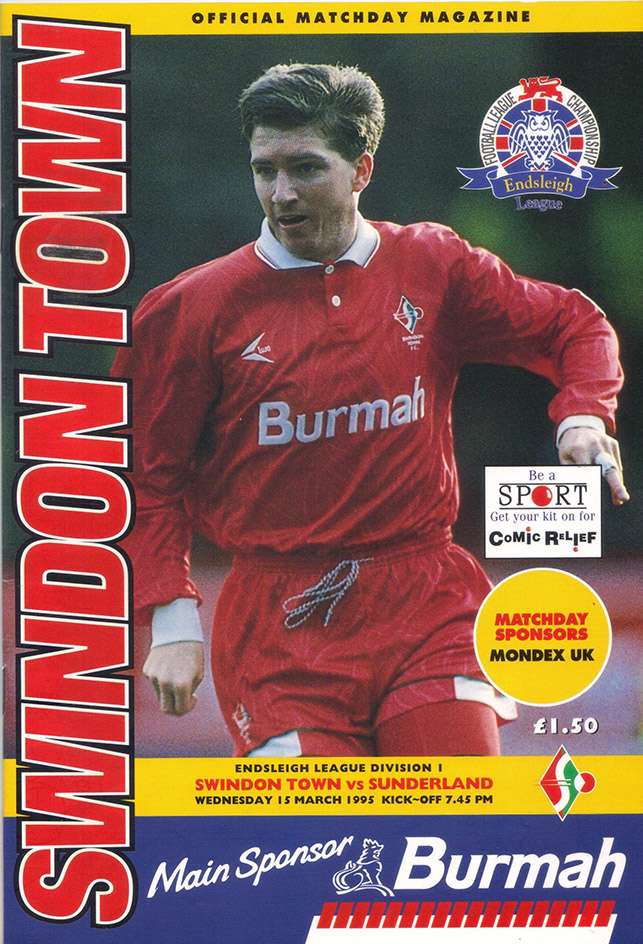 <b>Wednesday, March 15, 1995</b><br />vs. Sunderland (Home)