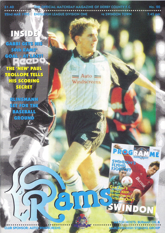 <b>Wednesday, March 22, 1995</b><br />vs. Derby County (Away)