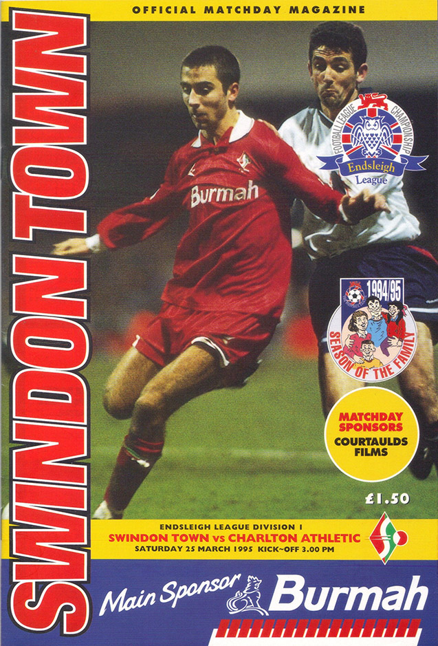 <b>Saturday, March 25, 1995</b><br />vs. Charlton Athletic (Home)