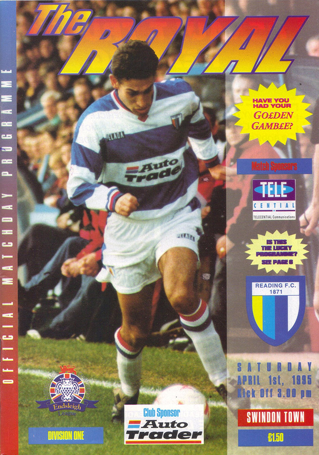 <b>Saturday, April 1, 1995</b><br />vs. Reading (Away)