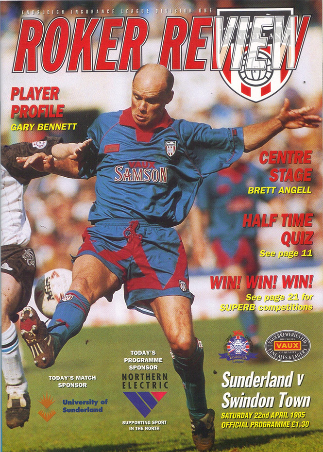 <b>Saturday, April 22, 1995</b><br />vs. Sunderland (Away)