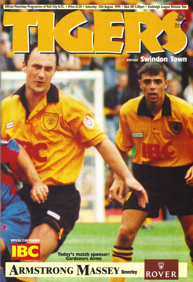 Saturday, August 12, 1995 - vs. Hull City (Away)