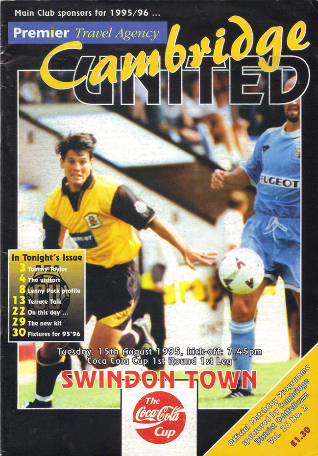 Tuesday, August 15, 1995 - vs. Cambridge United (Away)