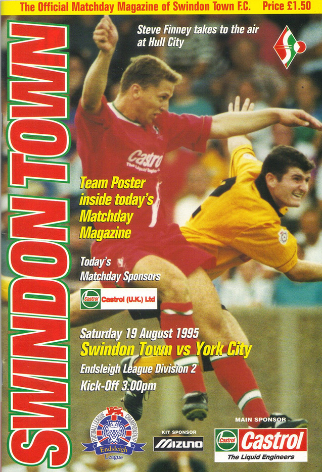 Saturday, August 19, 1995 - vs. York City (Home)
