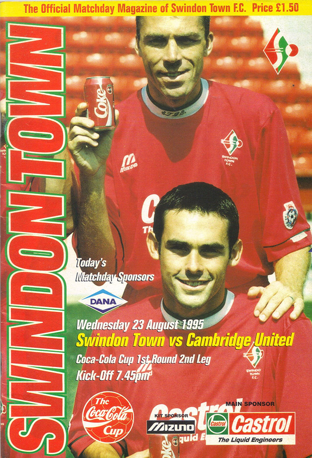 Wednesday, August 23, 1995 - vs. Cambridge United (Home)
