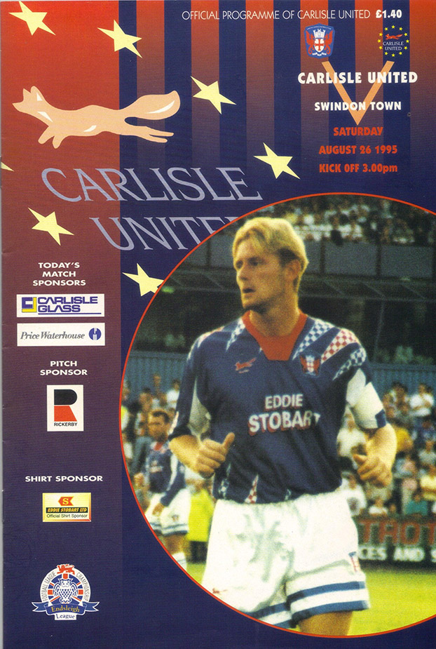 Saturday, August 26, 1995 - vs. Carlisle United (Away)