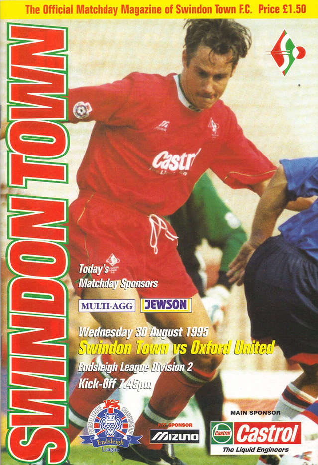 Wednesday, August 30, 1995 - vs. Oxford United (Home)