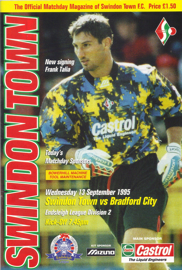 Wednesday, September 13, 1995 - vs. Bradford City (Home)