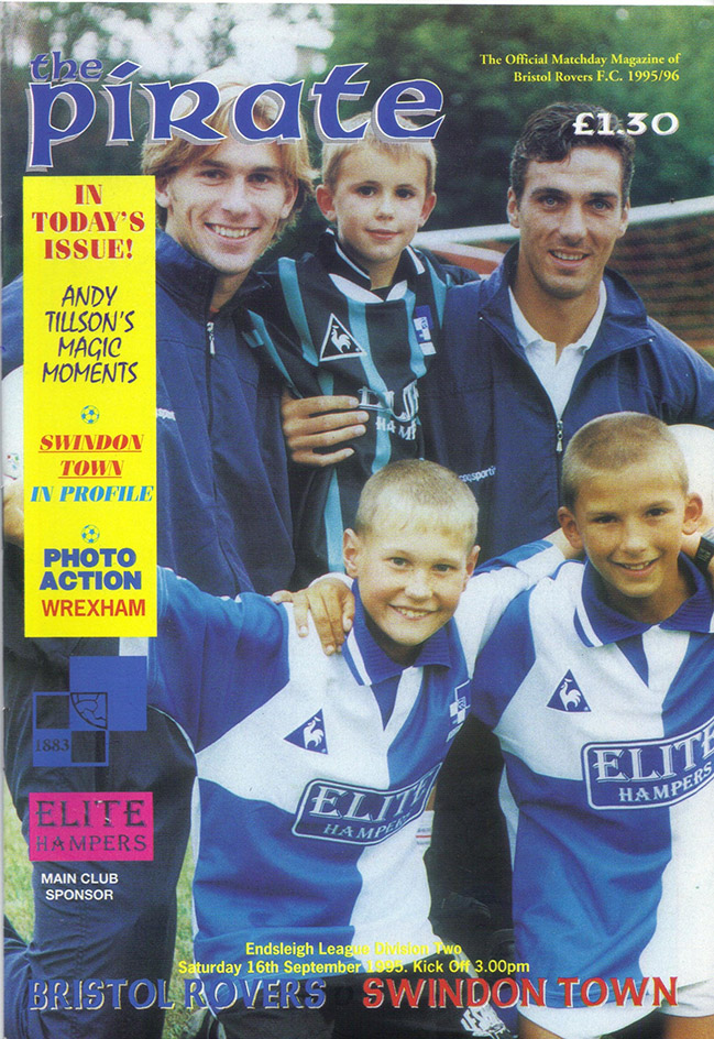 Saturday, September 16, 1995 - vs. Bristol Rovers (Away)