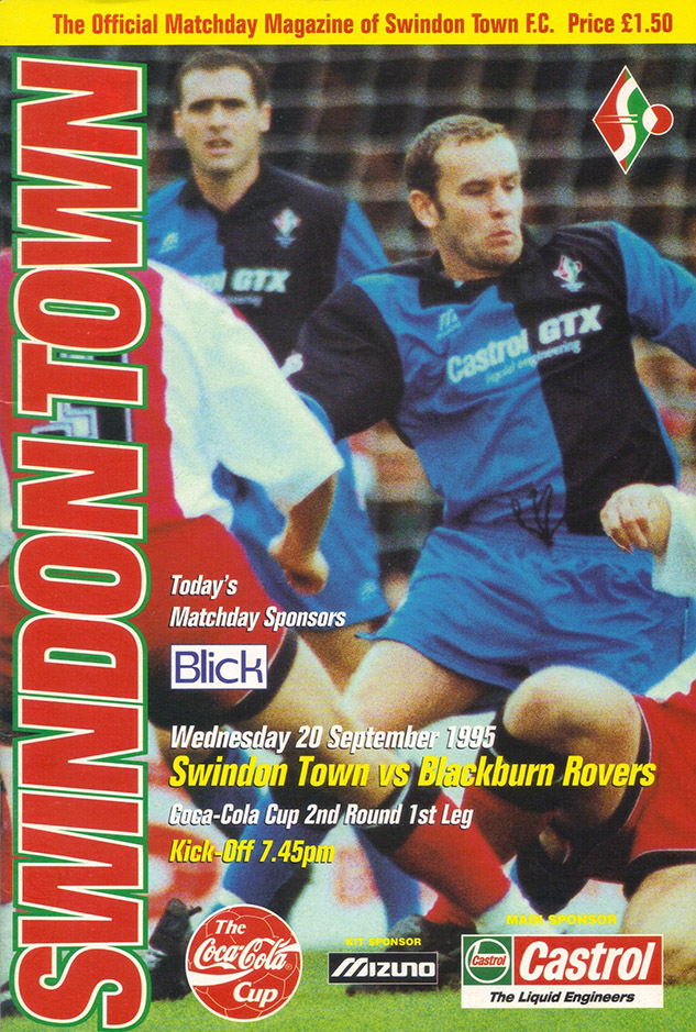 Wednesday, September 20, 1995 - vs. Blackburn Rovers (Home)
