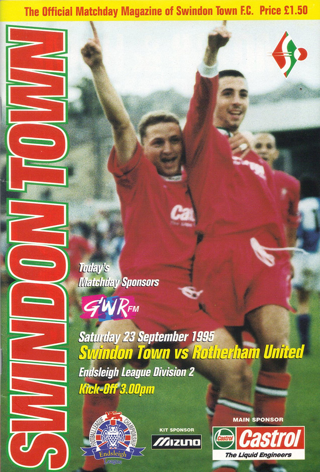 Saturday, September 23, 1995 - vs. Rotherham United (Home)