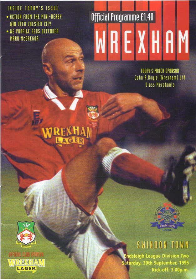 Saturday, September 30, 1995 - vs. Wrexham (Away)