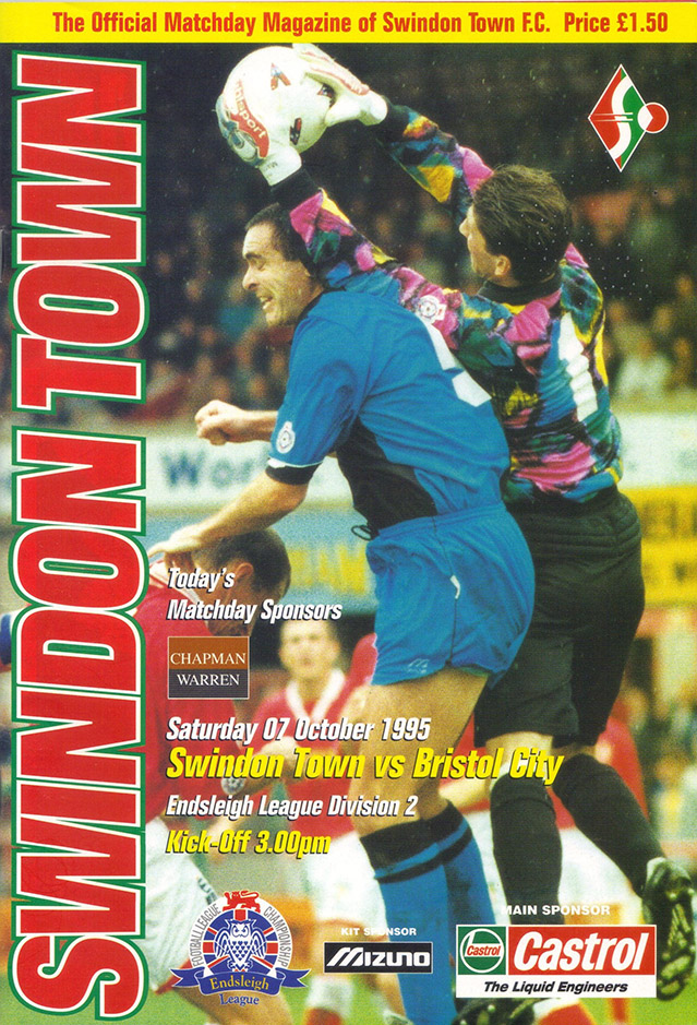 Saturday, October 7, 1995 - vs. Bristol City (Home)