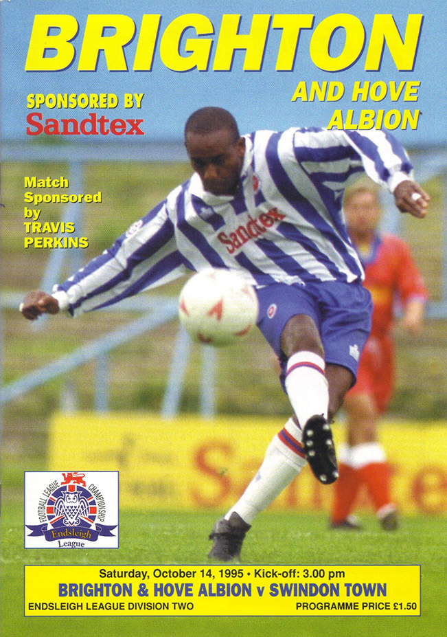 Saturday, October 14, 1995 - vs. Brighton and Hove Albion (Away)