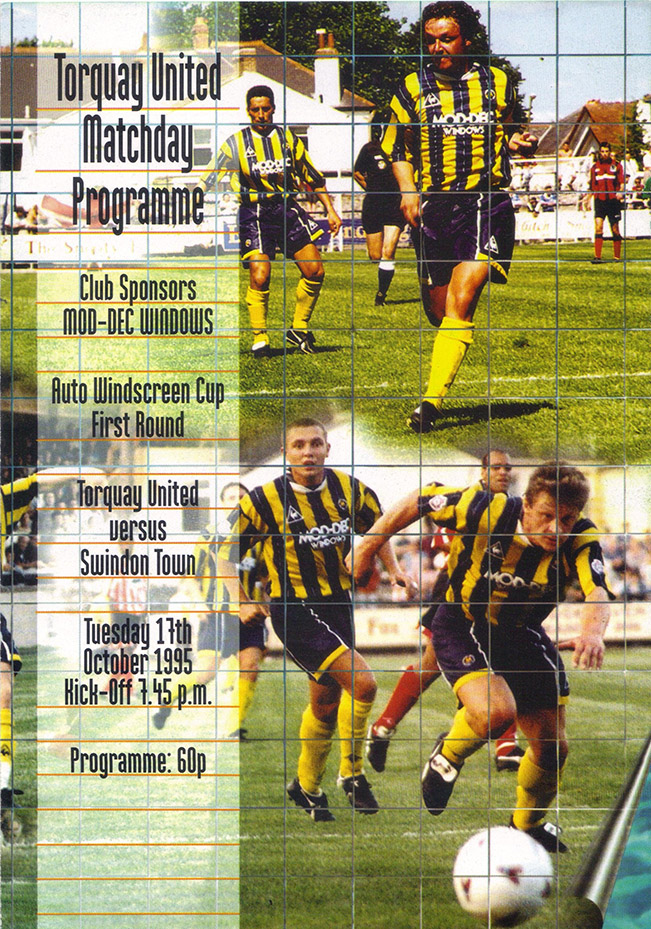 Tuesday, October 17, 1995 - vs. Torquay United (Away)