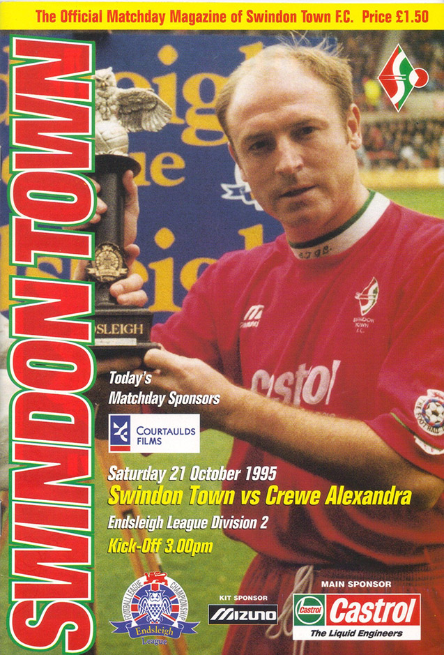 Saturday, October 21, 1995 - vs. Crewe Alexandra (Home)