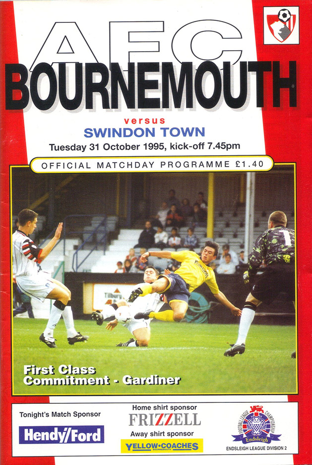 Tuesday, October 31, 1995 - vs. AFC Bournemouth (Away)